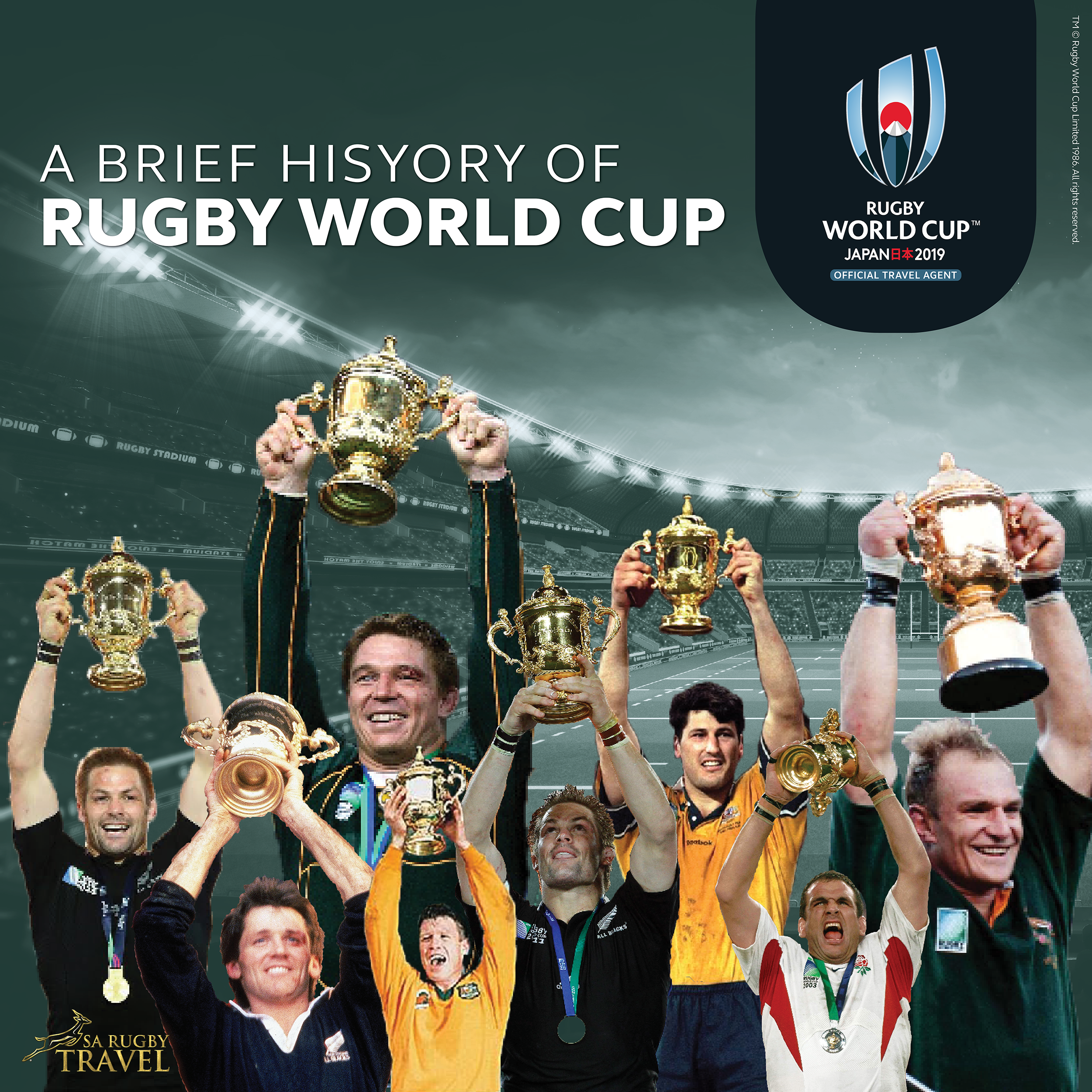 A Brief History Of Rugby World Cup Sa Rugby Travel