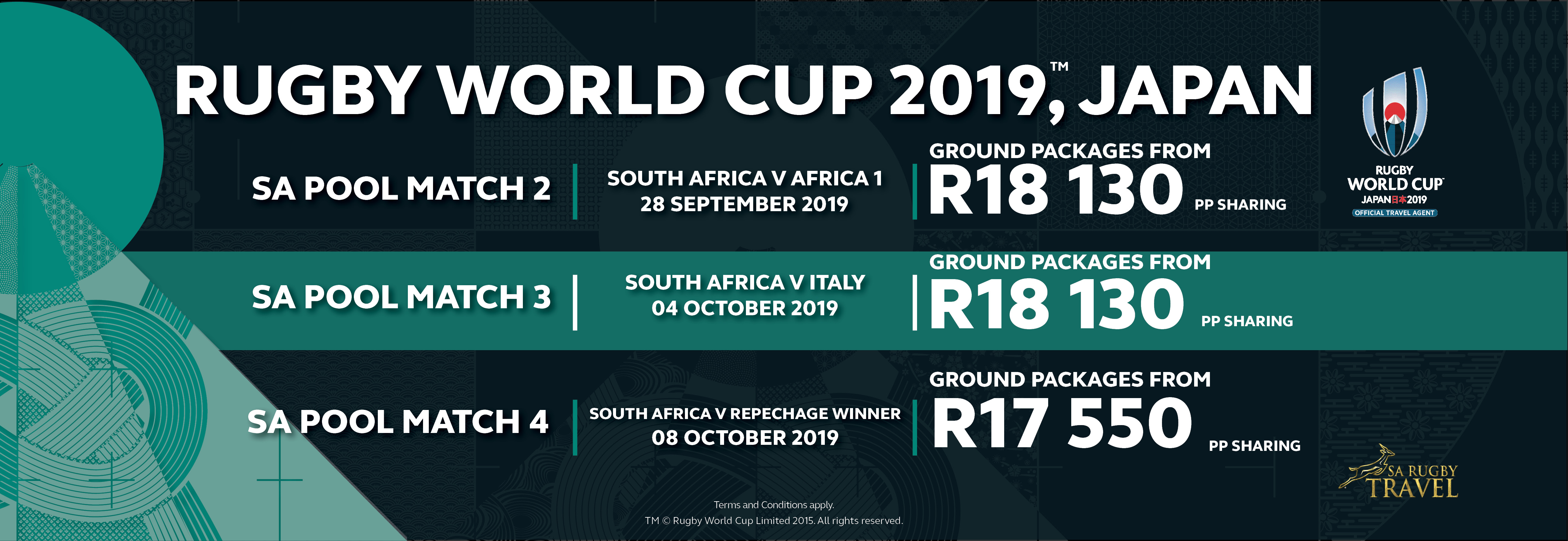 Rugby World Cup 2019 - Pool Matches