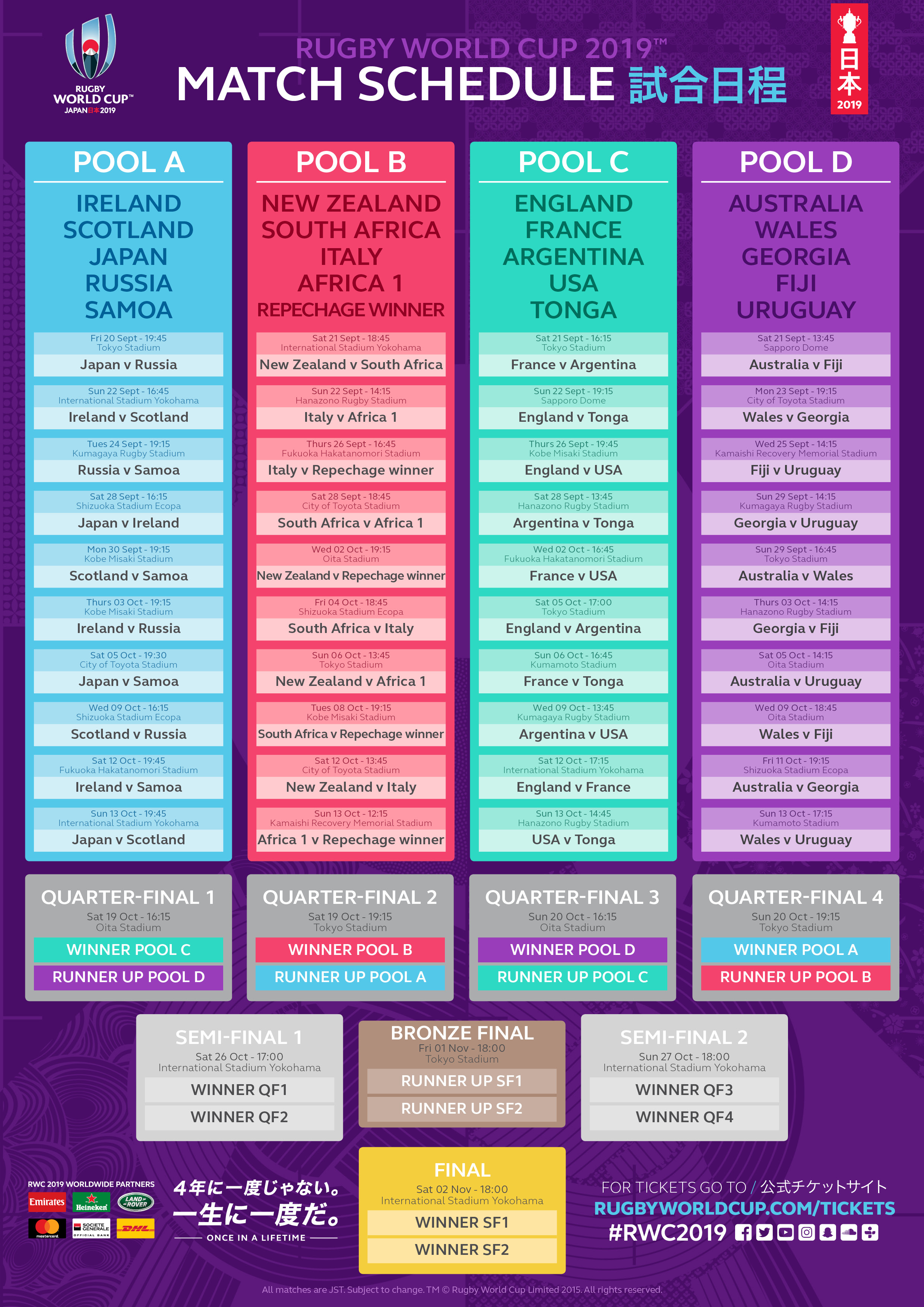 World Cup 2015 Schedule In Pdf Format